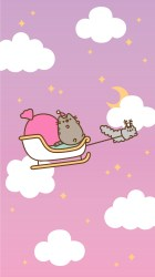 pusheen christmas iphone android wallpapers