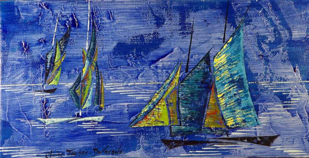 Peinture acrylique bateau breton