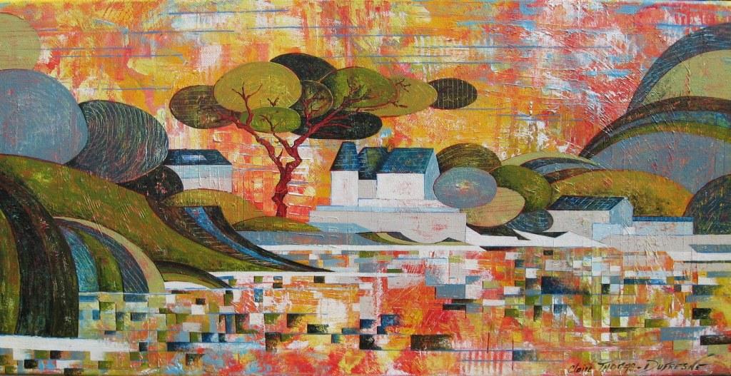 Peinture acrylique paysage