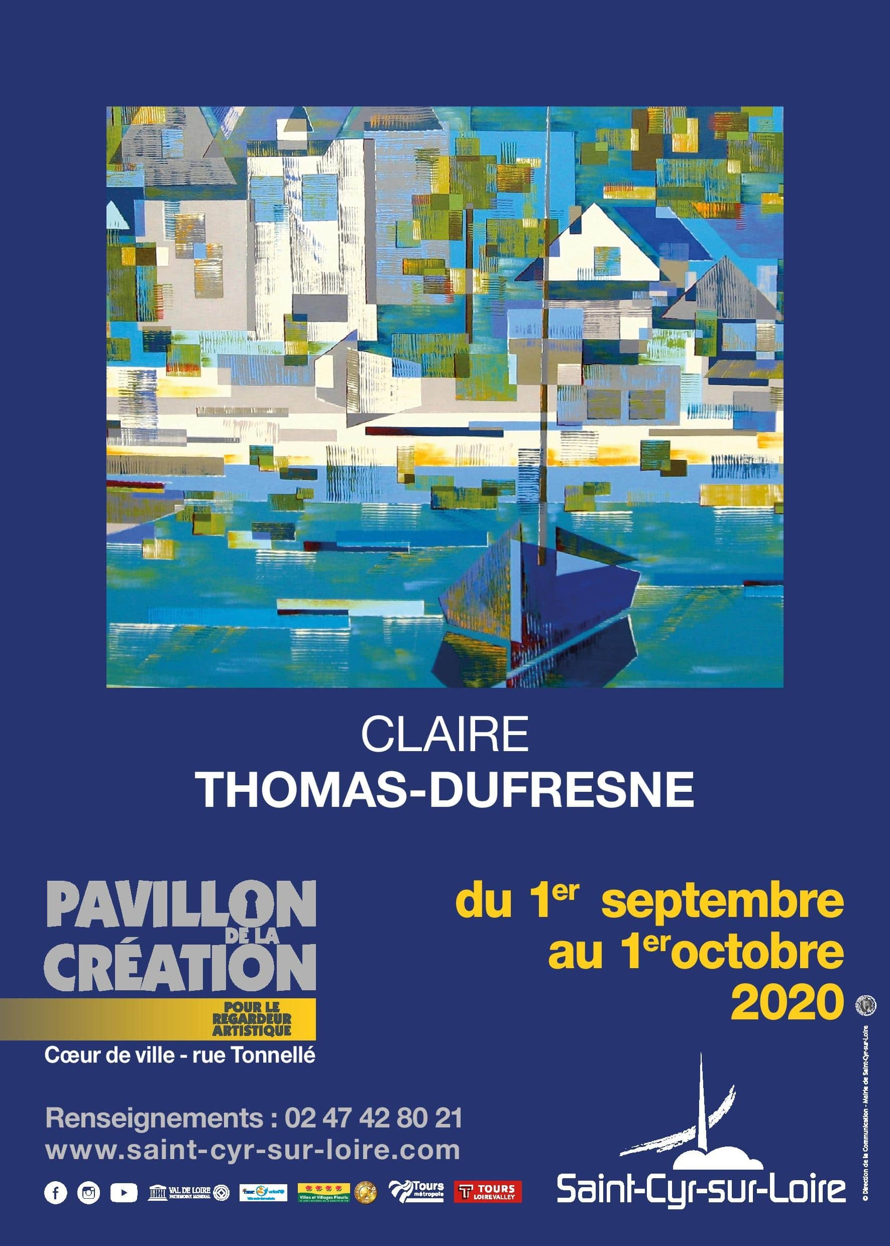 EXPOSITION AU PAVILLON DE LA CREATION du 1er au 30 septembre
