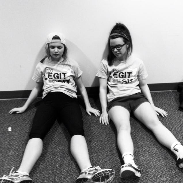 Annie Himes & myself after completing the 12 hour Dance Marathon 2013