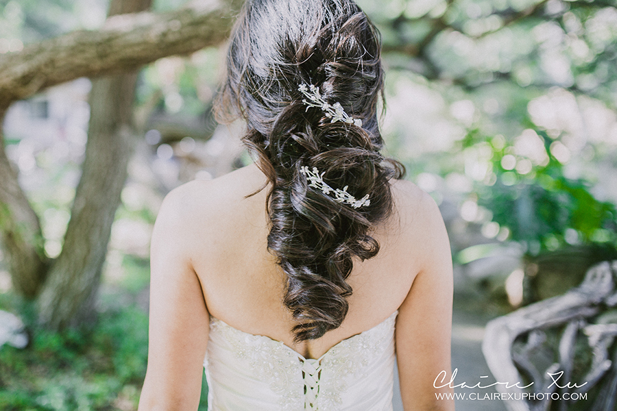 Oak Canyon Ranch Wedding Bride Hair Style