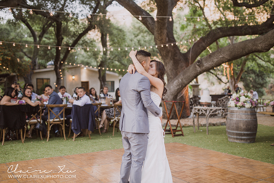 Oak Canyon Ranch Wedding Reception First Dance
