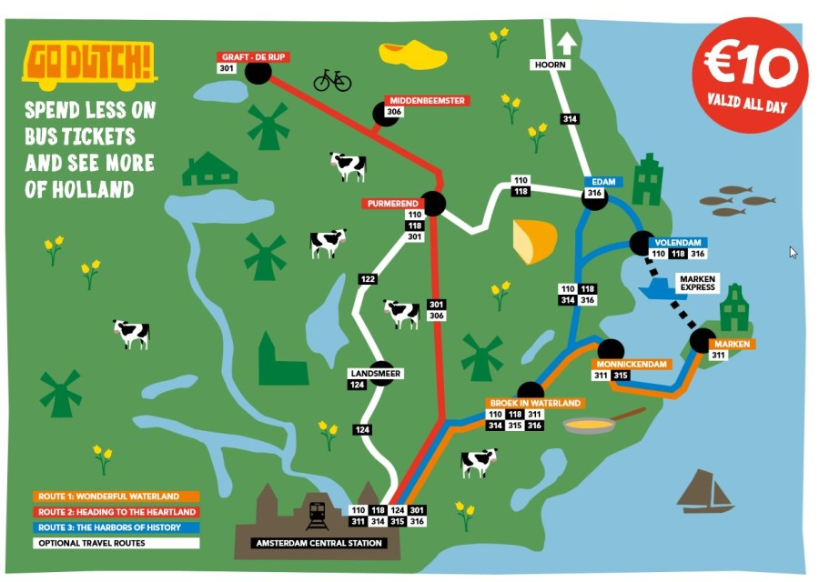 Plan de bus du Waterland