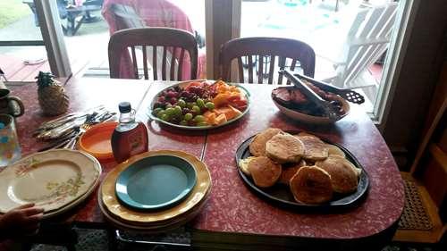 Canada - Muskoka - petit déjeuner