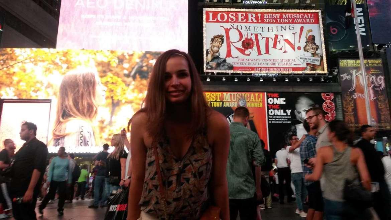New York Arrivée à Times Square ! Claironyva