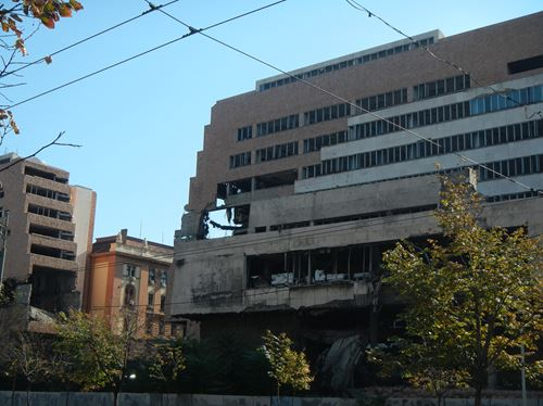Claironyva Belgrade sites bombardés