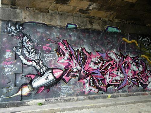 Vienne Canal Danube Street Art Claironyva