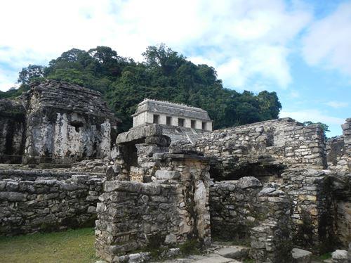 Palenque - site archéologique - Le Palais Claironyva