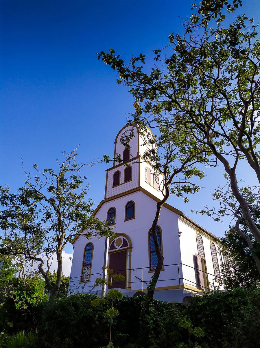 Jolie église de Torshavn - capitale des Iles Feroe