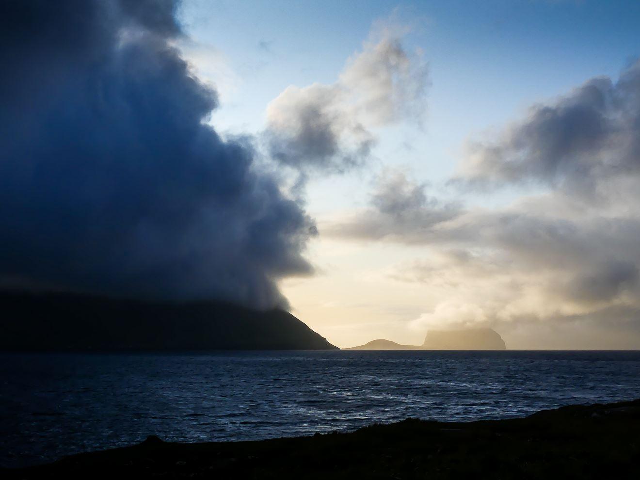 Vue sur d'autres îles des Feroe