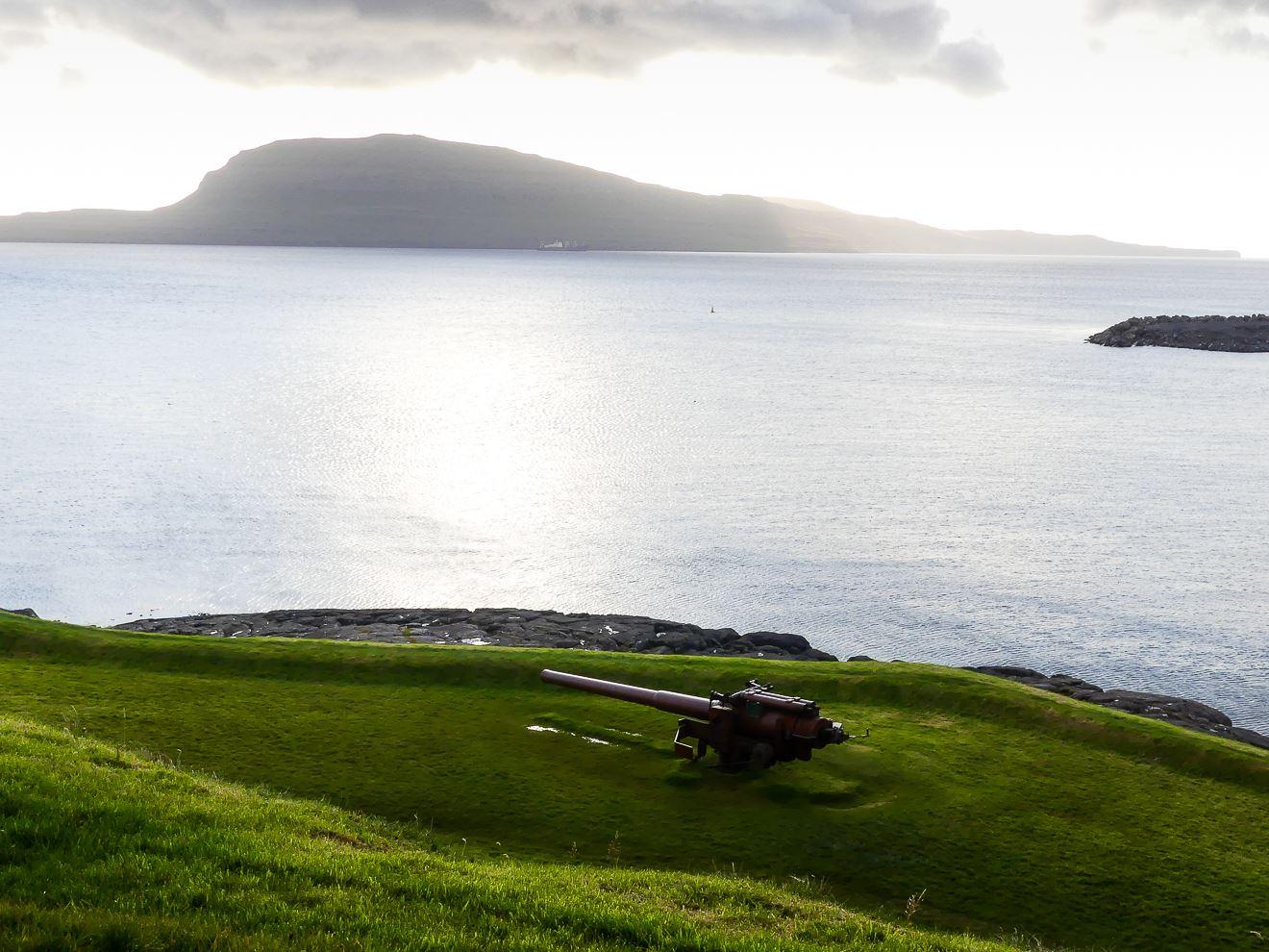 Vue depuis la forteresse de Torshavn - capitale des Iles Feroe