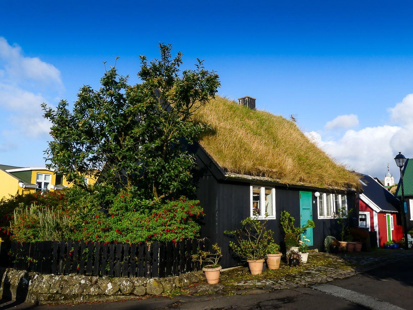 Centre ville de Toshavn, la capitale des Iles Feroe