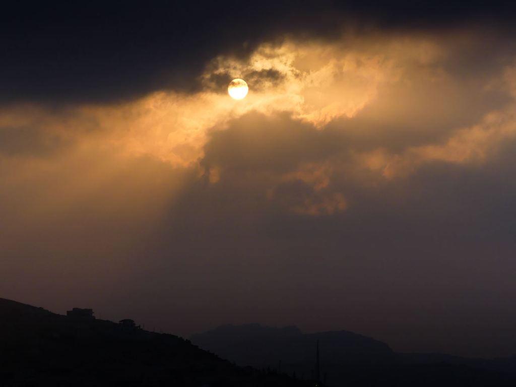 Coucher de soleil sur Wadi Musa - Petra