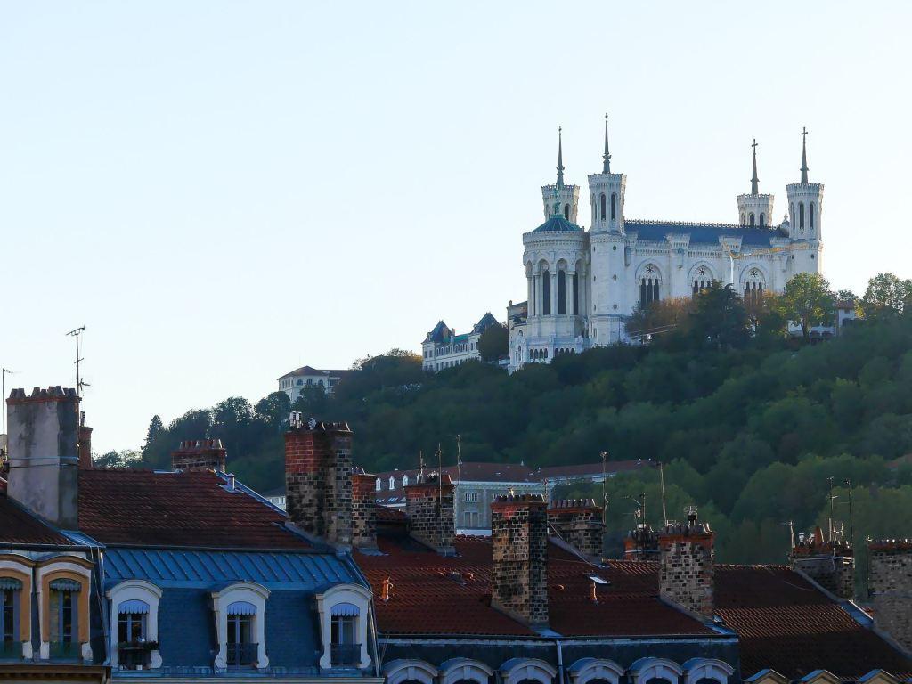Point de vue depuis les pentes de la Croix Rousse à Lyon