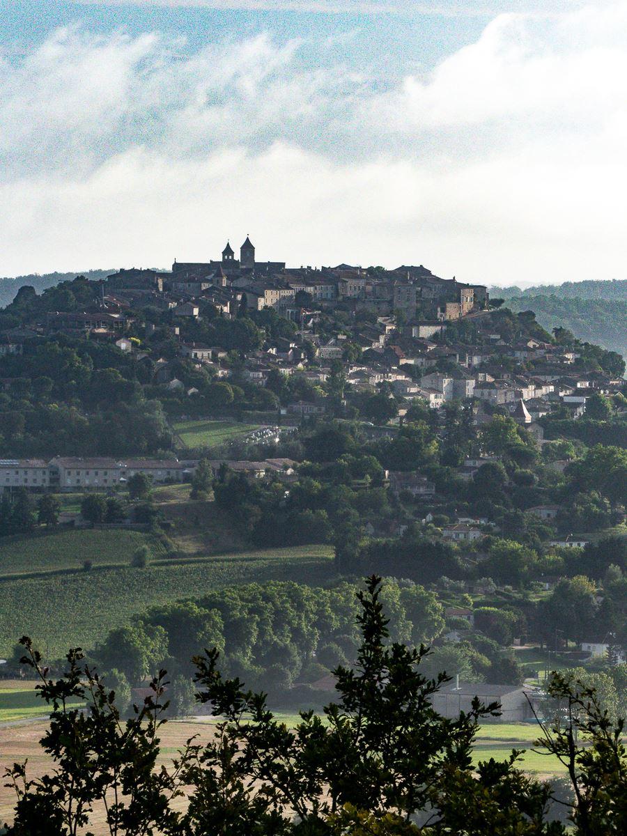 Vue sur Lauzerte depuis Saint Amans de Pellagal