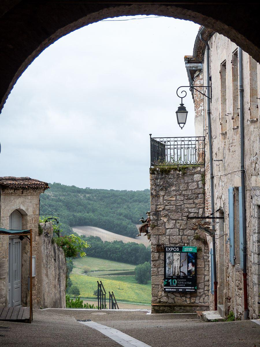 Rue de la Barbacane à Lauzerte