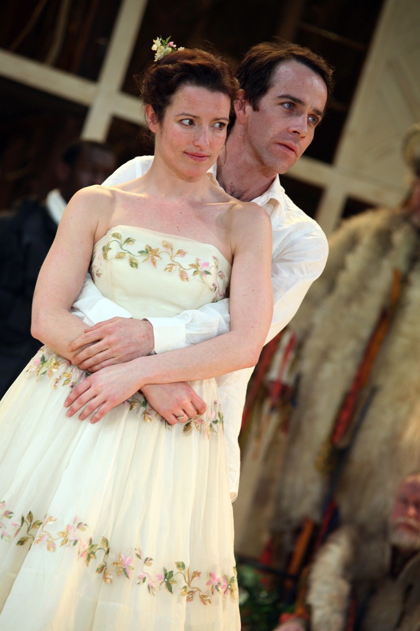 Katie Stephens (Rosalind) and Jonjo O'Neill (Orlando). (c) Ellie Kurtz