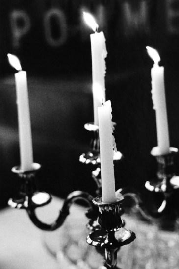 Candles, candelabra