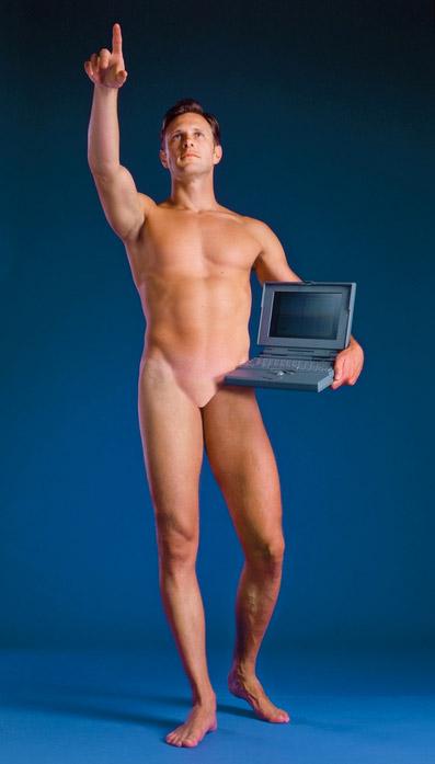 Aziz+Cucher, Man with a Computer