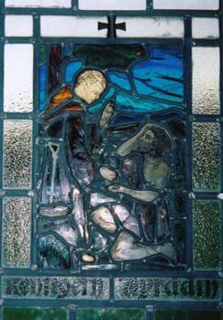 Saint Kentigern Christianizing Myrddin