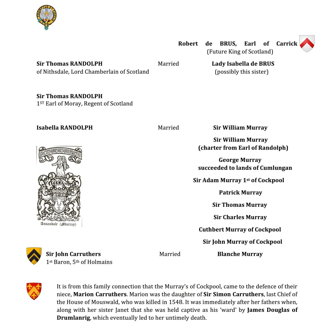 Robert de BRUS to Carruthers genealogy.jpg