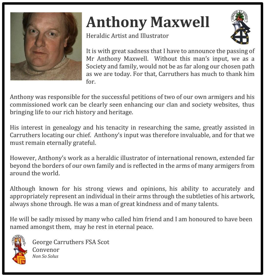 Anthony Maxwell obituary 2