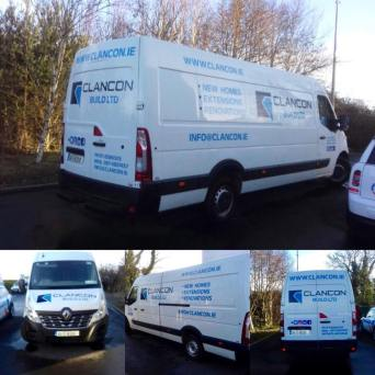 new vans for construction business Clancon build