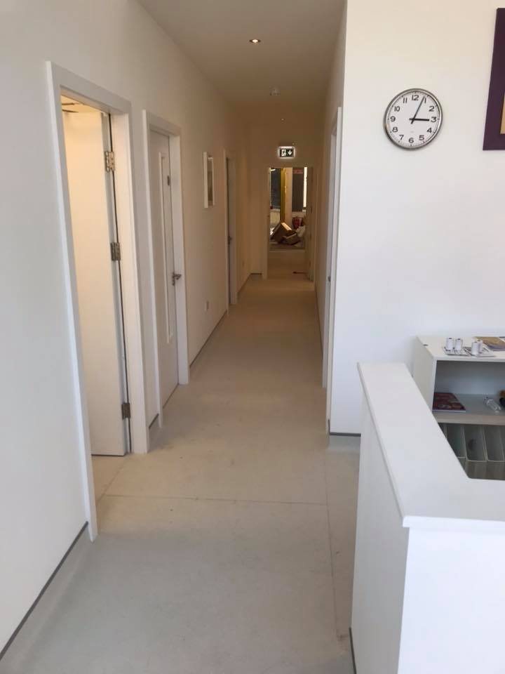 office fit out smithfield plaza dental hallway