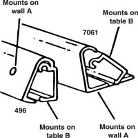 Wall Mount Table Support Bracket - Clancy Outdoors