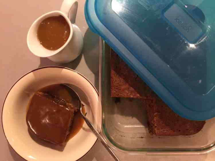 Date and Coffee pudding with a toffee sauce