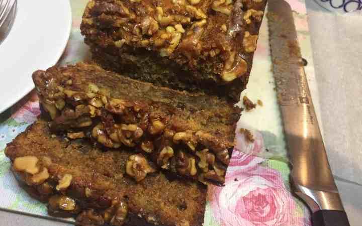 Date, Walnut, Banana and Honey Cake