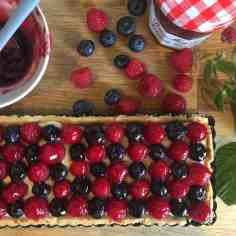 Raspberry and Blueberry Tart