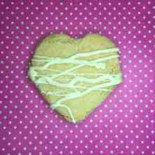 Shortbread heart shaped biscuit