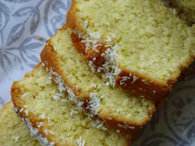 Slices of Coconut and Lime loaf
