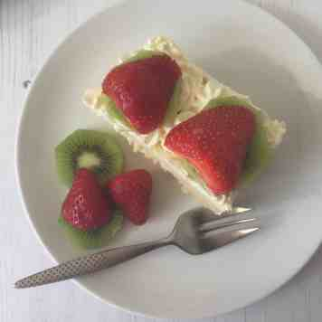 cake and plate