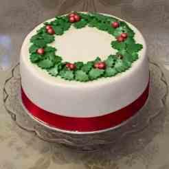 Decorated Christmas cake