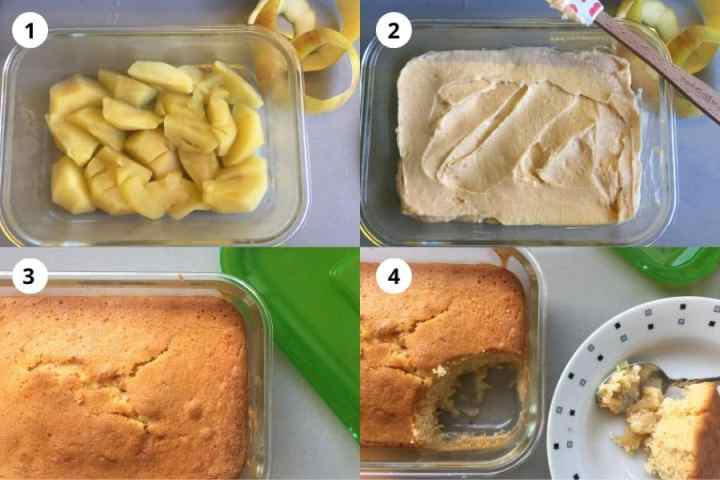 Instructions for making Apple Sponge Eve's Pudding