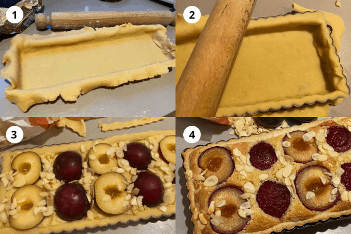 Step by Step Instructions how to make Plum and Frangipane Tart