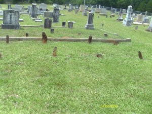 Gilgal Church Cemetery unmarked graves. Is this where William, Nancy and Isabella are buried?
