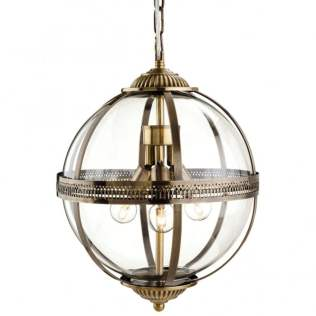 Firslight Mayfair Bronze Globe Pendant