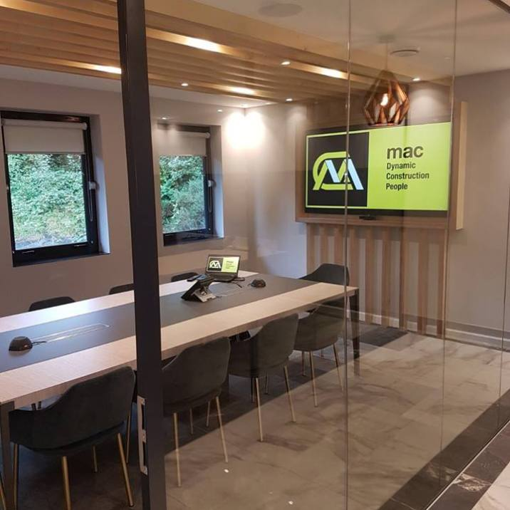 Mac Interiors Conference Room Newry | Clanrye Lighting Newry