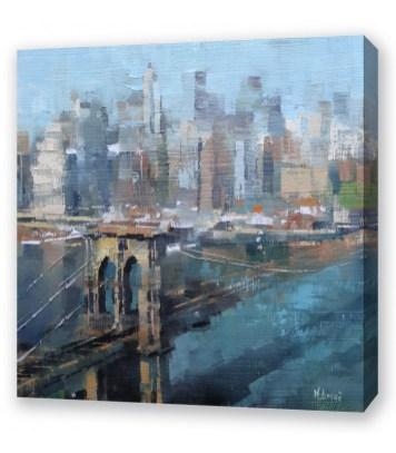 Brooklyn Bridge Canvas Bedroom Wall Art Newry