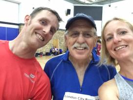 Martin, Frank and Krysia at the London Orienteering race, September 2016