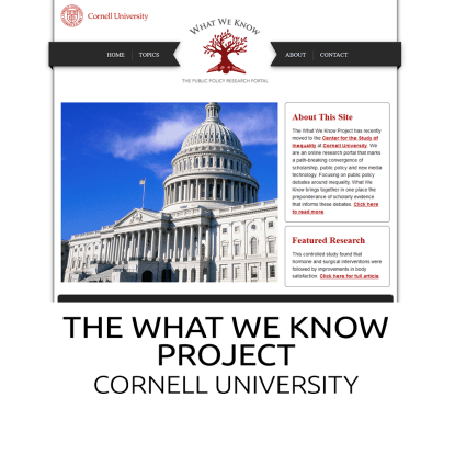 what we know project website image