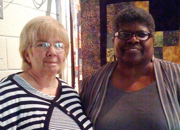 Holly Anderson and Carolyn Mazloomi