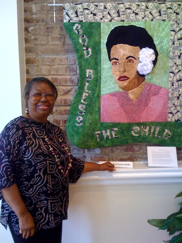 Marlene O'Bryant Seabrook shown with God Bless the Child.