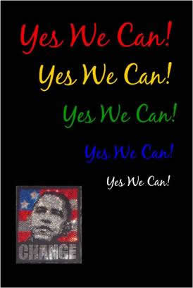 Yes We Can!, by Elisa Woods, 2009.