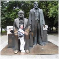 Marx, Engels und Clara