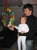 2008 Adventskranz Axel und Clara Larissa